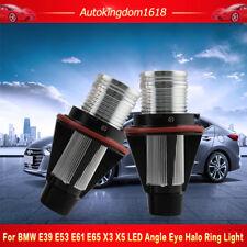 2X 5W CREE LED Angel Eyes Halo White Light LED Ring Marker Bulbs For BMW E39 E53