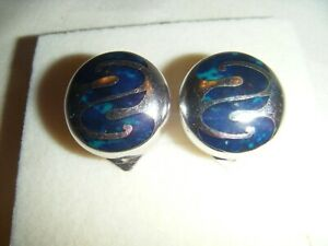 FLLI MENEGATTI DESIGNER STERLING  SILVER CLIP ON EARRINGS (SIGNED)