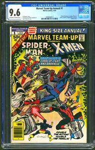 MARVEL TEAM-UP ANNUAL #1 - CGC 9.6 OW/WP NM+ SPIDER-MAN - X-MEN -1976