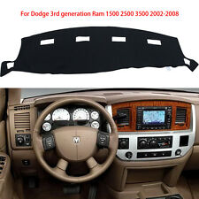 For Dodge Ram 1500 2500 3500 2002-2008 Dash Cover Dash Mat Dashboard Mat Black