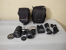 Olympus E-PL1 12.3MP with 14-42mm + 40-150mm Black - Battery Charger, 16 GB SD