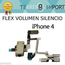 Flex Volumen Jack 3.5mm Silencio iPhone 4 Blanco Reparacion