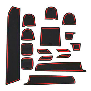 16Pc Rubber Gate Slot Pad Anti-Slip Cup Mat Fit For Suzuki Swift 1.2 Sport 11-17