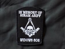 Masonic Widows Sons Hiram Abiff Patch Square Compass Iron Sew Fraternity NEW!