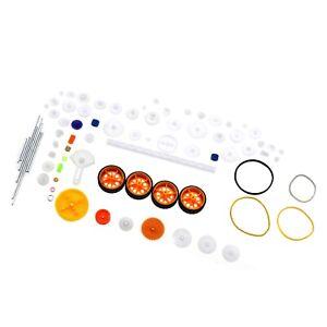 78Pcs Plastic Gear Motor Gearbox Model Toy Car Craft DIY Accessories Axle Belt