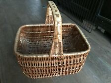 Vintage style wicker shopping basket