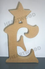 VICTORIAN LETTERS WITH STAR IN MDF (18mm thick)/WOODEN CRAFT SHAPE/DECORATION
