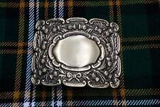 Hebilla de cinturón de hombre escocés Kilt Cardo de desplazamiento Acabado Antiguo/Hebillas de Piper