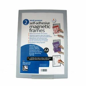A4 Self Adhesive Magnetic Display Frames - Pack of 2