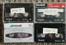 Scotch 8mm P6-120 Camcorder Video Cassette 120 Min - Qty. 3 plus Qty. 1 Maxell