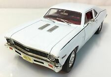 1969 Chevy Nova White 1 of 2499~ American Muscle Ertl~ 1:18~ RARE COLOR~