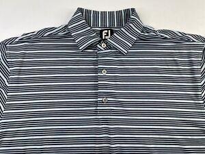 FJ FootJoy Striped Short Sleeve Golf Polo Shirt Men's XL