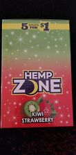 15 Pack Hemp Zone Kiwi Strawberry-75 Wrap Rillo Size with Free Tube & Scoop Card