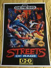 MEGADRIVE Streets of Rage Juego cartel impresión en A3 #retrogaming este un cartel