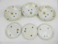 LOT 6 pc. Mid Century Modern Atomic Hand Painted Plates Bowls Moderne France