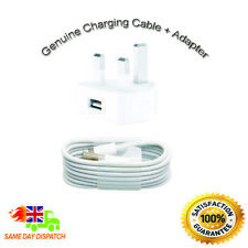 Genuine/Official Apple Lightning USB Cable Charger Lead Iphone iPod iPad & Plug