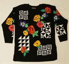 Bright Color Block Geometric Pattern Retro 80s Party Pullover 296 mvp Sweater