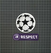 UEFA Champions League Starball & Purple RESPECT Sleeve Patches/Badges 2009-2011