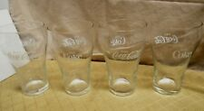 "Set Of 4 Vintage Coca~Cola Coke Small Glasses 5"" Tall"