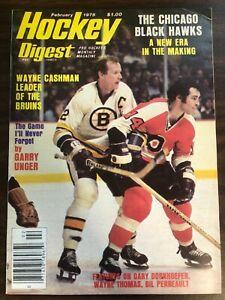 NHL HOCKEY DIGEST PRO HOCKEY'S MONTHLY MAGAZINE 1978  WAYNE CASHMAN GOOD CON