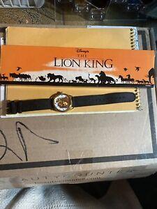 Disney Lion King Mufasa And Simba Kodak Promotional Watch 1994 W/Original Box