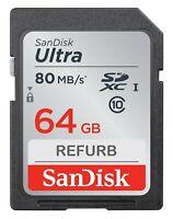 SanDisk Ultra SDXC 64GB Class 10 Camera Memory Card SDSDUNC-064G-AN6IN SD 64 GB
