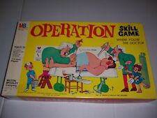 Vintage 1965 Milton Bradley Operation Skill Game With Smoking Doctor