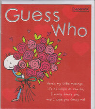 Guess Who-St-Valentin carte ~ V1-Envoi Gratuit UK