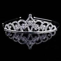 Kid Girl Rhinestone Crystal Tiara Hair Band Bridal Princess Prom Crown Headband