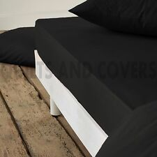 PURE JERSEY COTTON FITTED BED SHEET SINGLE DOUBLE KING SUPER KING EXTRA DEEP