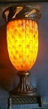 VINTAGE HOLLOW LIGHT UP BEAUTIFUL UNIQUE TING SHEN TABLE LAMP ~RARE~