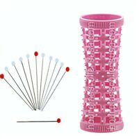 Mini-Pink 17mm/0.66in w/ 12 PINS – Pack of 12 - Hourglass / Tension Natural Hair