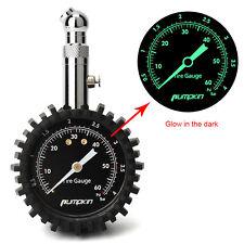 Luminous Metal Dial Car Tire Tyre Air Pressure Gauge Meter Measure Manometer