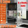 3 Layer Stainless Steel Kitchen Home Microwave Oven Rack Organizer Storage Shelf