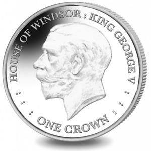2017 Falkland Islands House of Windsor King George V Cu-Ni Coin UNC Crown