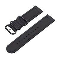 Black Genuine Leather Strap For Apple Watch 42mm / 44mm Series 1,2,3,4,5,6,SE