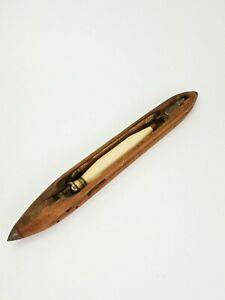 Antique Wooden Boat Shuttle Loom Weaving Tool E/0367