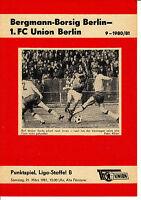 DDR-Liga 80/81 1. FC Union Berlin - Bergmann Borsig Berlin  21.03.1981