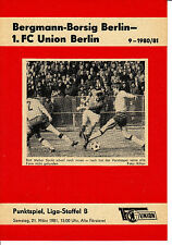 DDR-Liga 80/81 1. fc Union Berlin-Bergmann cruzcampo Berlin 21.03.1981