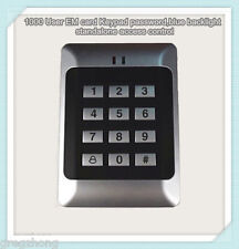1000 User EM card Keypad password,blue backlight standalone access control