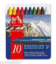 Caran D'ACHE Neocolor II Boîte de 10 pastels cire solubles dans l'eau