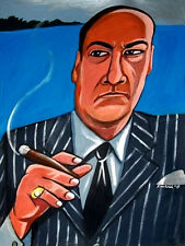 TONY SOPRANO CIGAR PRINT the sopranos hbo james gandolfini mafia godfather don