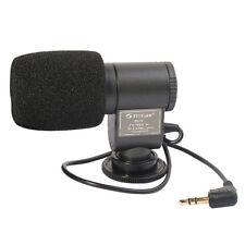 SG-107 Mini External Stereo Microphone for Canon Nikon DSLR Camera DV Camcorder