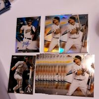(15) 2020 Topps Finest Seth Brown RC Auto + Refractor Oakland Athletics LOT