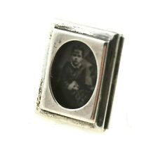 Dollhouse Miniature Sterling Silver English Picture Frame Artisan Signed