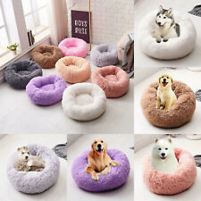 Dog Pet Cat Calming Bed Nest Large Comfy Puppy Washable Fluffy Cushion Pad Mat