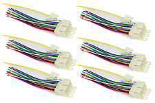 6 Pack! EARLY GM CAR STEREO WIRING HARNESS WIRE AFTERMARKET RADIO CD PLAYER PLUG