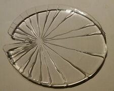Seerosenteller - Kristallglas Servierteller Teller Dekoteller Schale - NEU