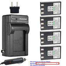 Kastar Battery AC Charger for NB-1L NB-1LH CB-2L Canon Digital IXUS 500 Camera