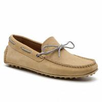 Trussardi Jeans 77A00169 Mocassins Homme Chaussures Véritable Cuir en Daim P/E